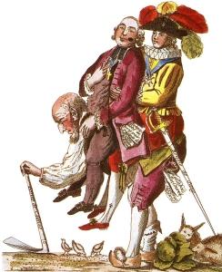 Caricature anonyme de la Société d'ordre, 1789